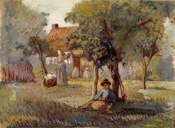 Family Garden | Camille Pissarro | oil painting