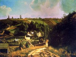 Hill of Jallais at Pontoise | Camille Pissarro | oil painting
