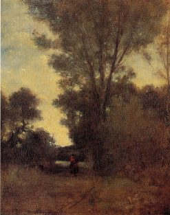 Horseman in the Forest | Camille Pissarro | oil painting