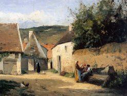 Jacob Coin de village | Camille Pissarro | oil painting