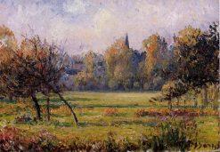 Landscape at Bazincourt | Camille Pissarro | oil painting