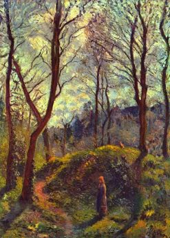 Landscape with Big Trees | Camille Pissarro | oil painting