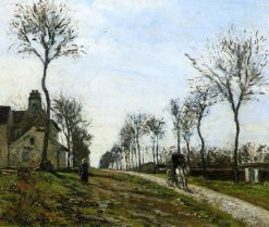 Road to Louveciennes | Camille Pissarro | oil painting
