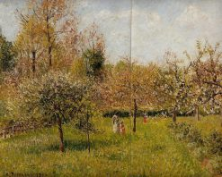 Spring at Eragny | Camille Pissarro | oil painting