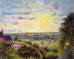 Sunset at Eragny | Camille Pissarro | oil painting