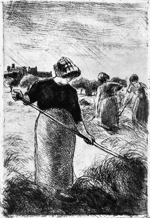 The hayymaker | Camille Pissarro | oil painting