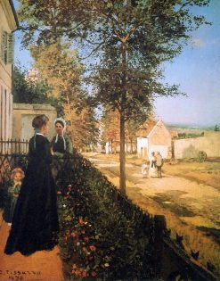 The road of Versailles | Camille Pissarro | oil painting