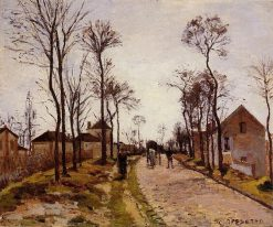 The Road to Saint Cyr at Louveciennes | Camille Pissarro | oil painting