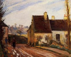 The Tumbledown Cottage near Osny | Camille Pissarro | oil painting