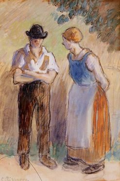 Two Peasants | Camille Pissarro | oil painting