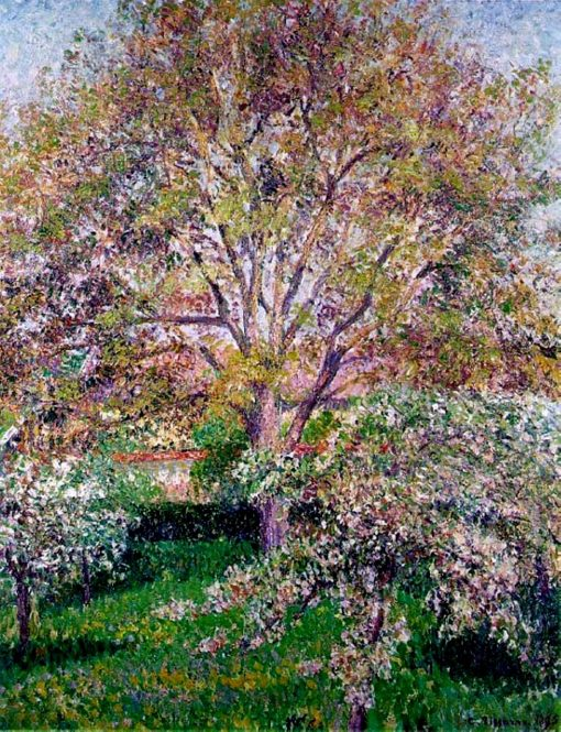 Wallnut and Apple Trees in Bloom at Eragny | Camille Pissarro | oil painting