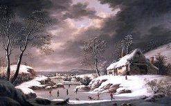 Winter Scene | Joseph Francis Gilbert | oil painting