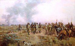 After the Battle. The Emir Mahmud Brought Prisoner to Herbert Kitchener