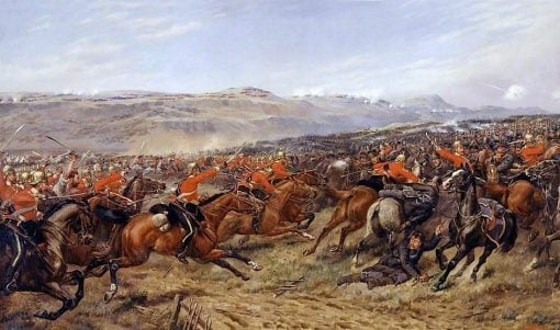 The Charge of the Heavy Brigade at the Battle of Balaclava