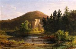 Castle by a River   James Giles   oil painting