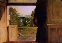 Haddo -  The Park Seen through the Open Drawing Room Door | James Giles | oil painting