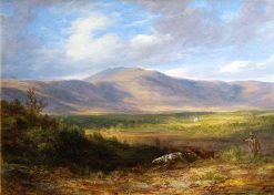 Moorland Landscape with Sportsman and Setter | James Giles | oil painting