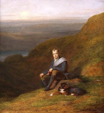 Sir Walter Scott with a Dog | James Giles | oil painting