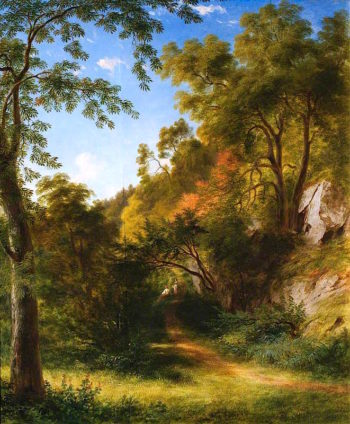 Woodland Path with Figures | James Giles | oil painting