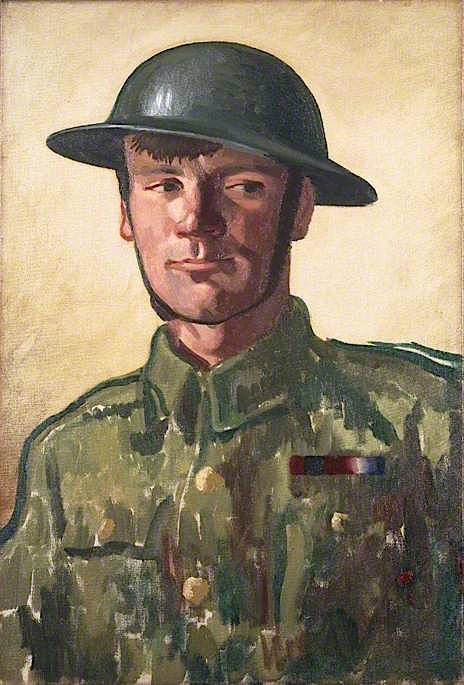 A Gunner   Colin Unwin Gill   oil painting