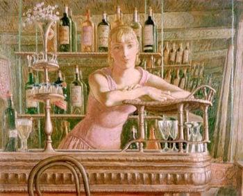 Café Bar | Colin Unwin Gill | oil painting