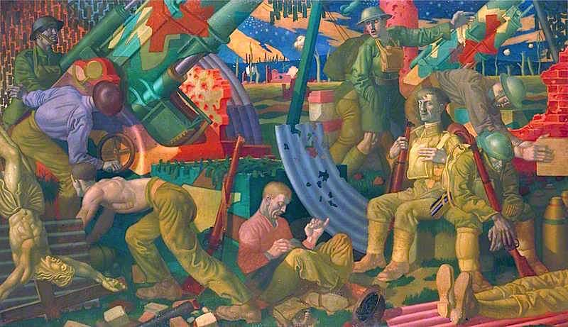 Heavy Artillery   Colin Unwin Gill   oil painting