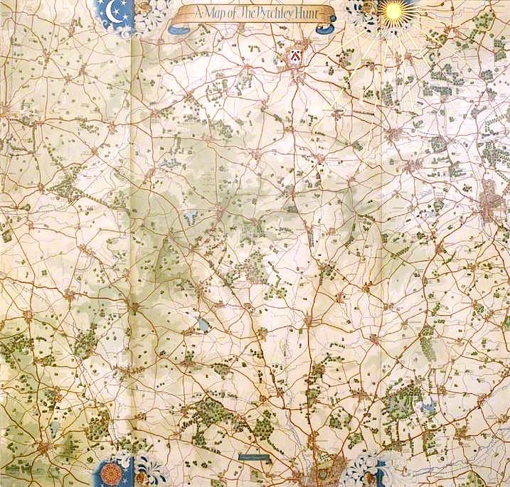 Map of the Pytchley Hunt   Colin Unwin Gill   oil painting