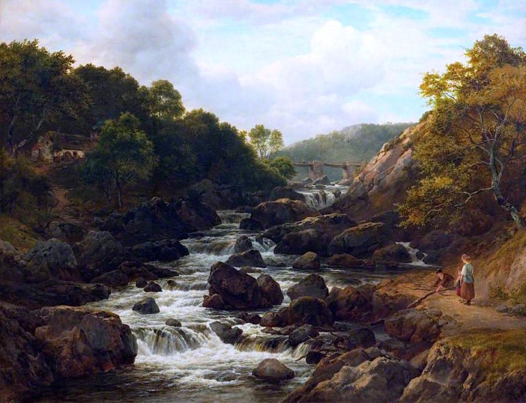 On the Lledr | Edmund Marriner Gill | oil painting
