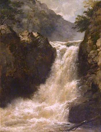 Waterfall near Pont - y - Mynach | Edmund Marriner Gill | oil painting