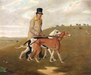 A Huntsman and Two Greyhounds