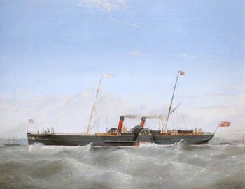 Paddle Steamer Snaefell | Frederick Gill | oil painting