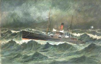 SS Ellan Vannin | Frederick Gill | oil painting