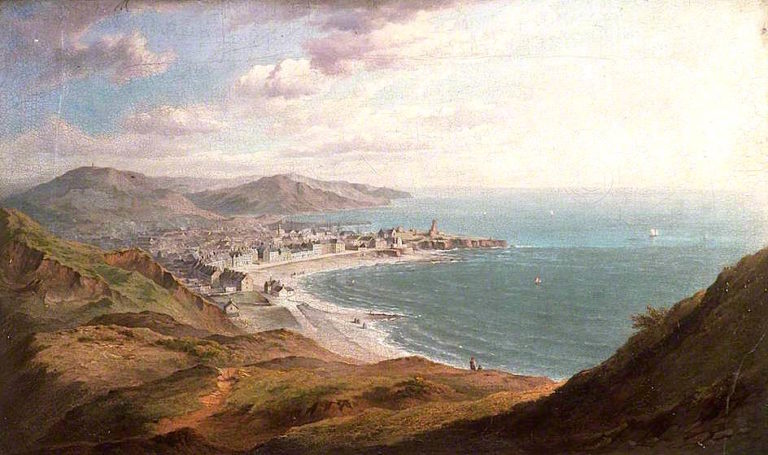 Aberystwyth from Constitution Hill   William Ward Gill   oil painting