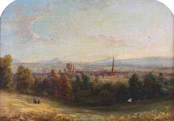 Hereford from Venns Lane | William Ward Gill | oil painting