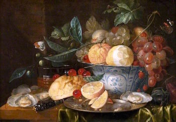 Still Life with Fruit and Oysters | Jan Pauwel Gillemans the Elder | oil painting