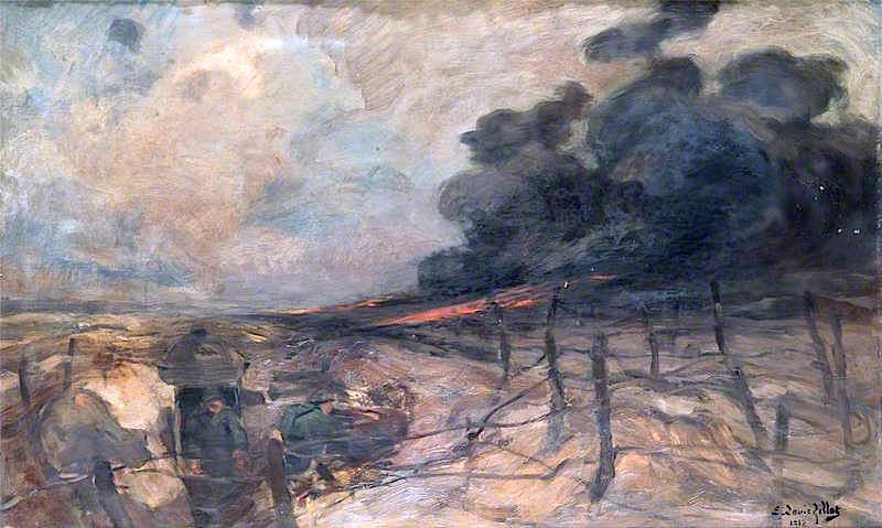 An Attack by Flamethrowers | Eugene Louis Gillot | oil painting