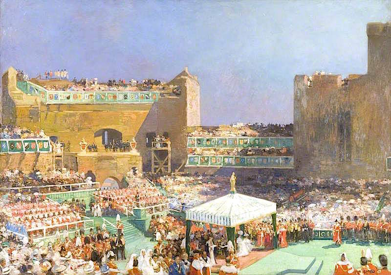 Investiture of the Prince of Wales at Caernarvon | Eugene Louis Gillot | oil painting