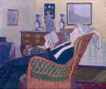Interior with Artists Mother | Harold Gilman | oil painting