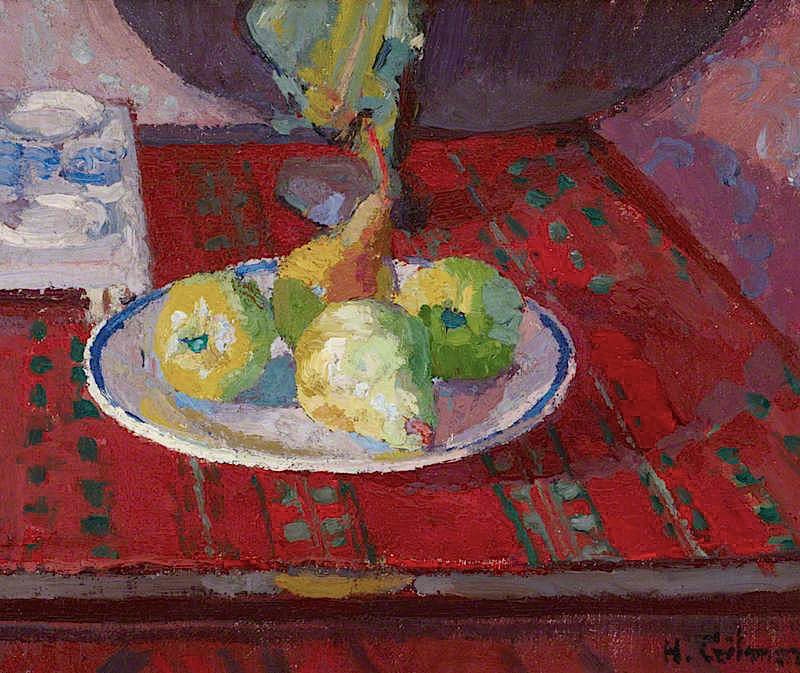 Still Life with Pears on a Plate | Harold Gilman | oil painting
