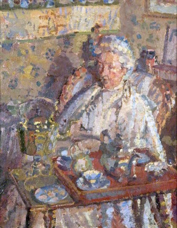 The Old Lady | Harold Gilman | oil painting