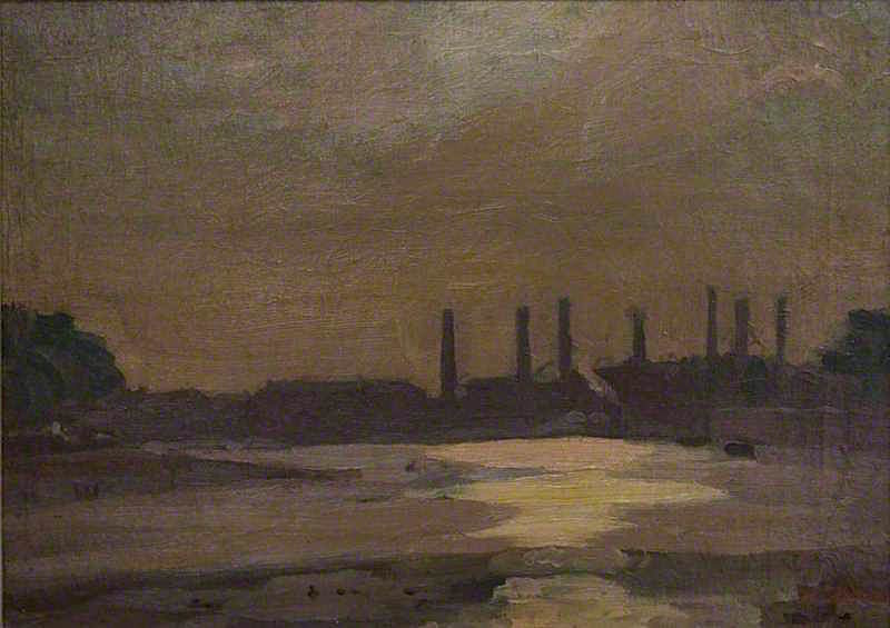 The Thames at Chelsea | Harold Gilman | oil painting