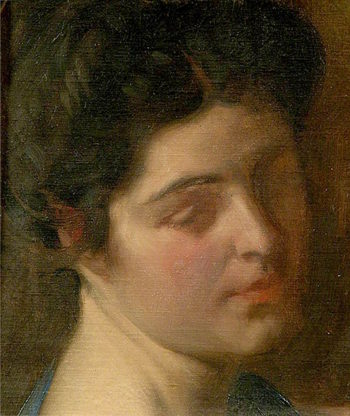 Head of an Unknown Lady | Louis Ginett | oil painting