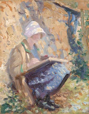 Mary   Louis Ginett   oil painting