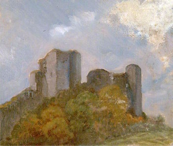 Ruined Castle | Louis Ginett | oil painting