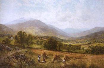 Harvesting Scene | Alfred Augustus Glendening | oil painting