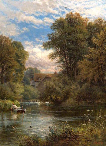 On the Thames | Alfred Augustus Glendening | oil painting