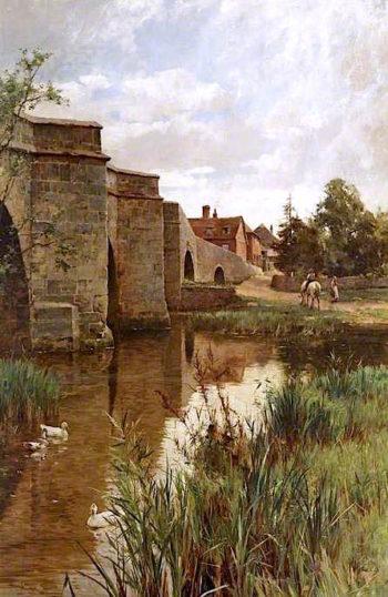 The Bridge | Alfred Augustus Glendening | oil painting