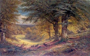 Under the Beeches | Alfred Augustus Glendening | oil painting