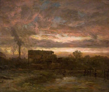 Glenboig Clay Mill | William Glover | oil painting
