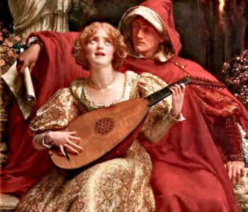 Thy Voice is like to Music heard ere Birth/Some Spirit - Lute touched on a Spirit Sea | Sigismund Christian Hubert Goetze | oil painting
